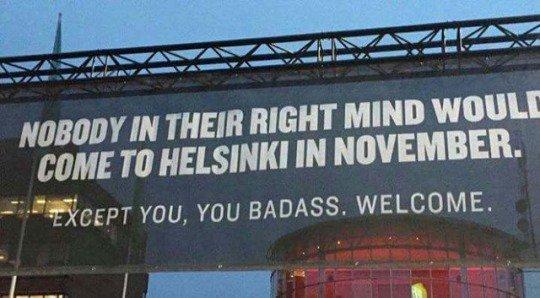 Fantastic billboard in Helsinki